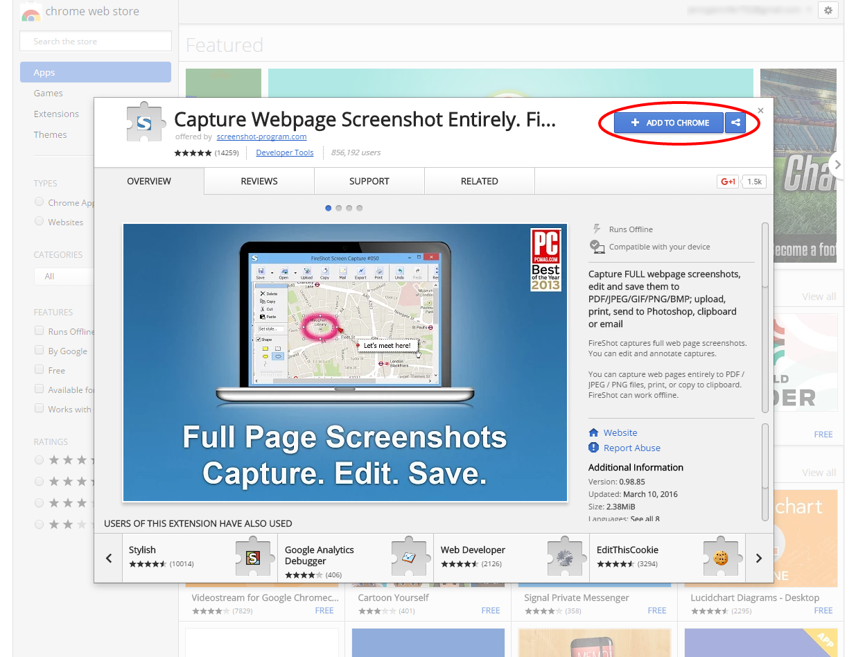 Fireshot Captures Full Web Page Screenshots In This Screenshot Extension  You Can Edit And Annotate Captures You Can Capture Web Pages Entirely To