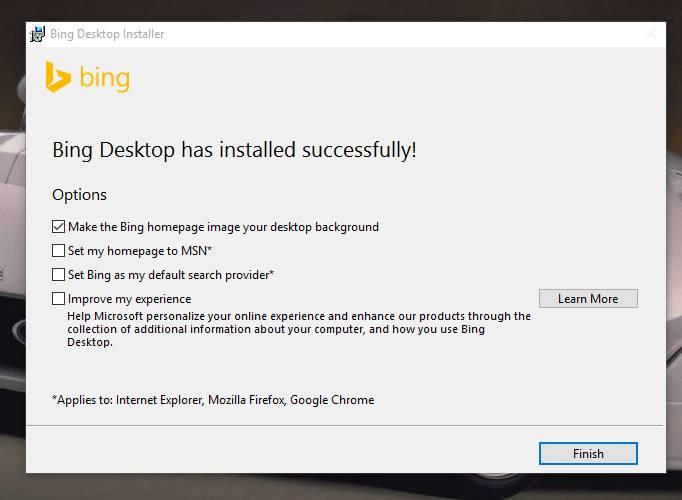 Set Bing Background