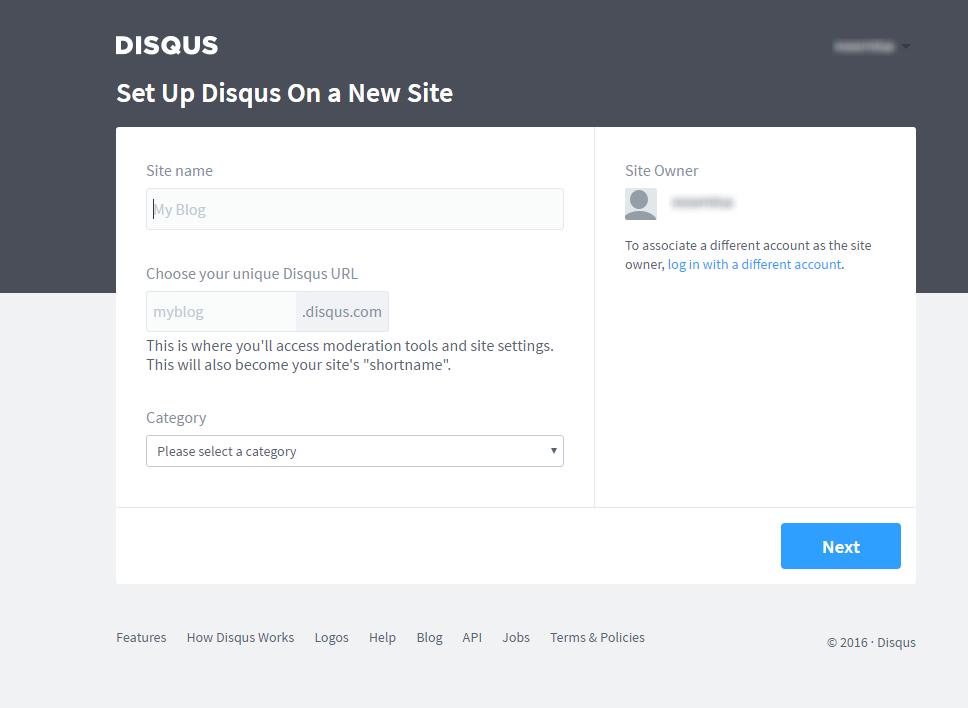 Disqus Register site Techstribe