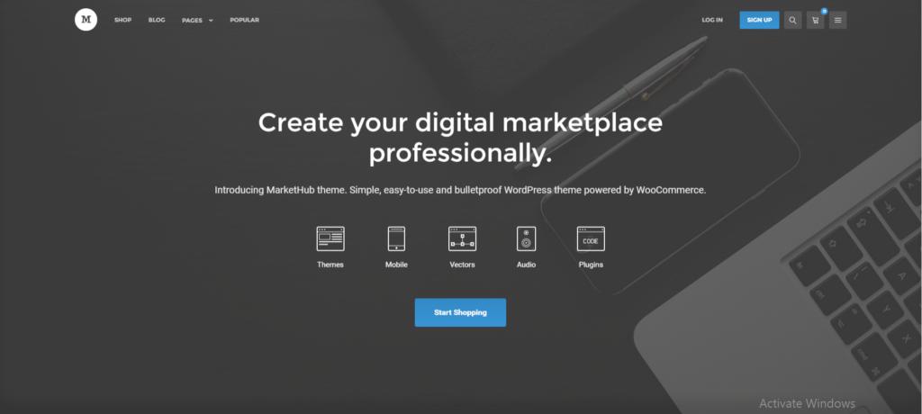 MarketHub Marketplace WordPress Theme