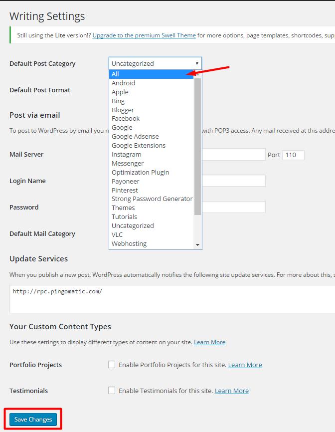 Deleting Uncategorized Category in WordPress 4