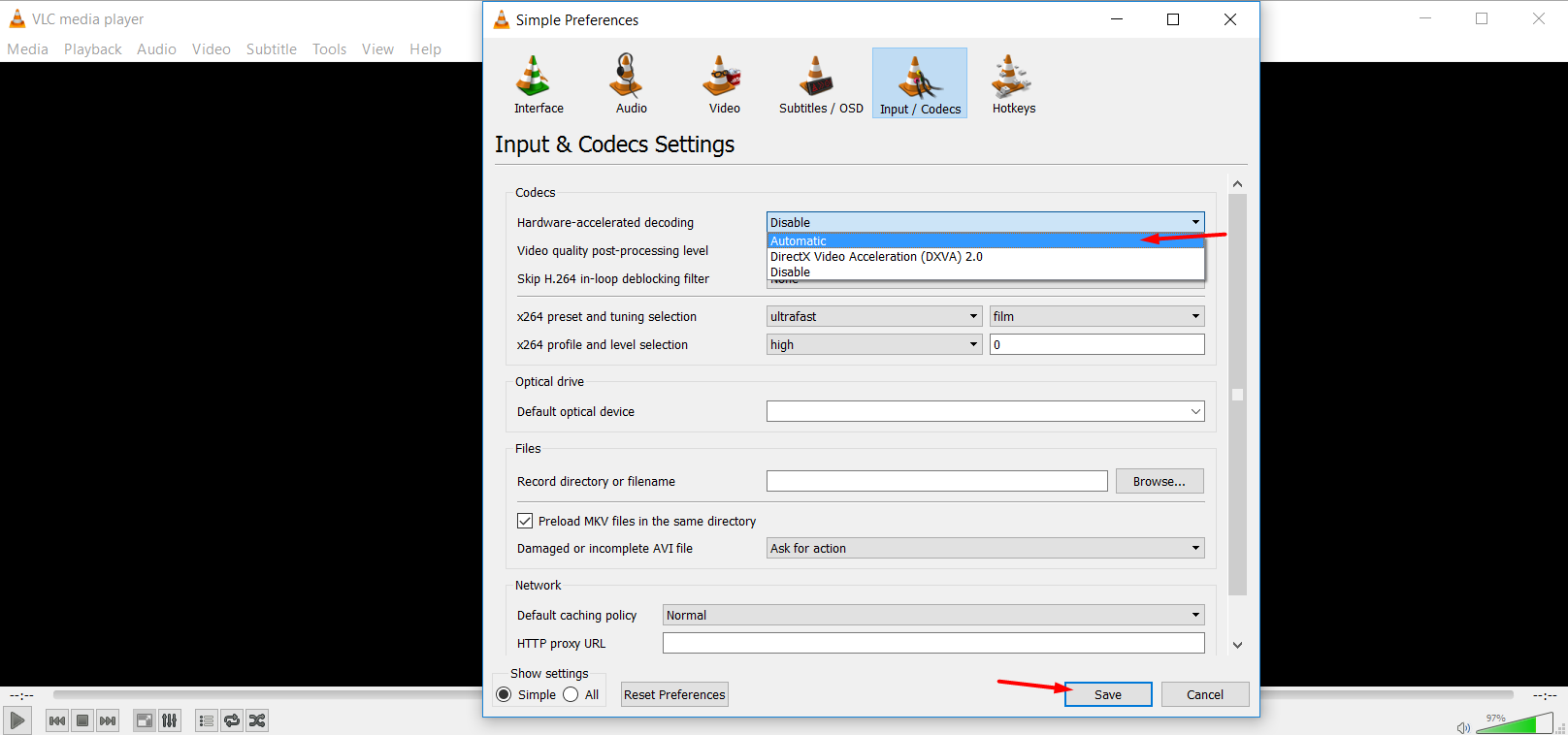 Save battery life with VLC 2