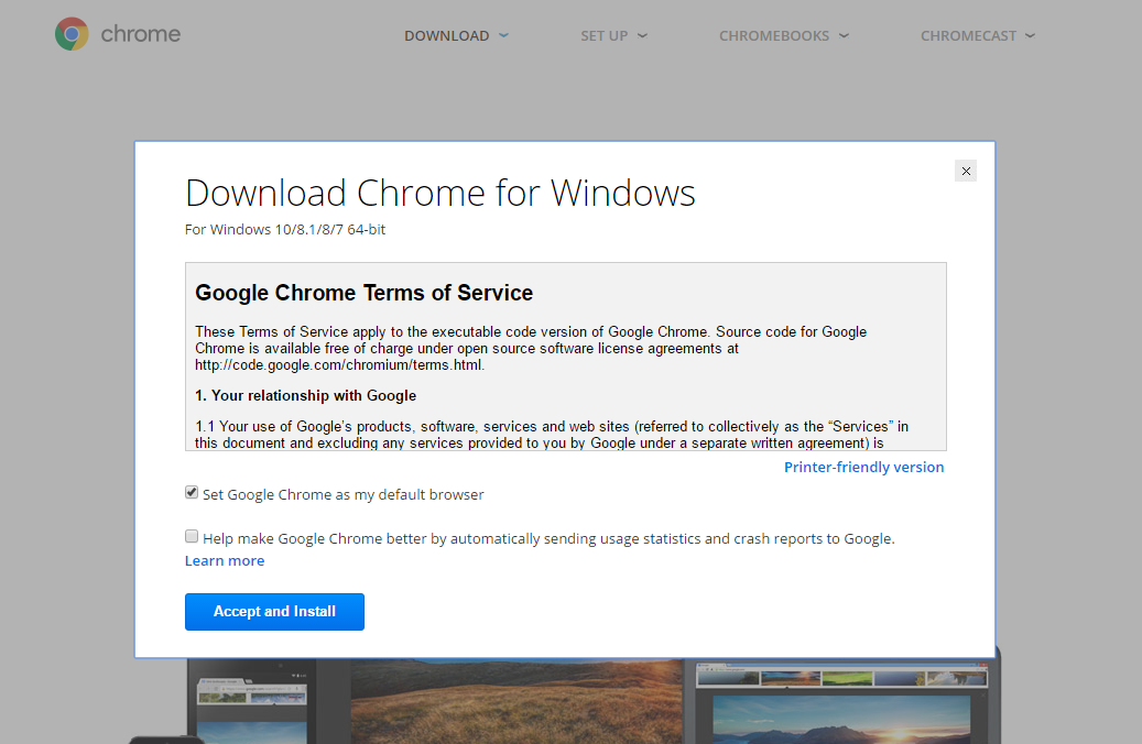 Upgrading Google chrome to 64-bit 2