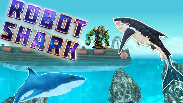 Warrior Robot Shark Game Transforming Shark Robot