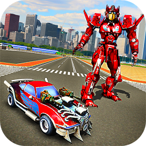 Robot Car War Transform Fight Game for Android And PC