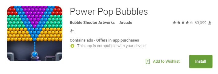 Power Pop Bubbles Game for Android
