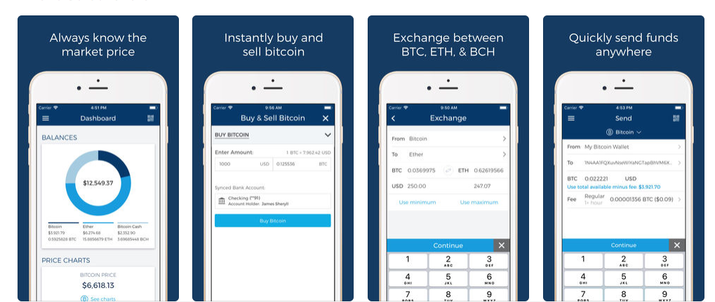 Create cryptocurrency wallet app