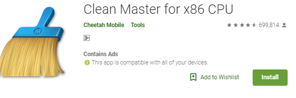 Clean Master for x86