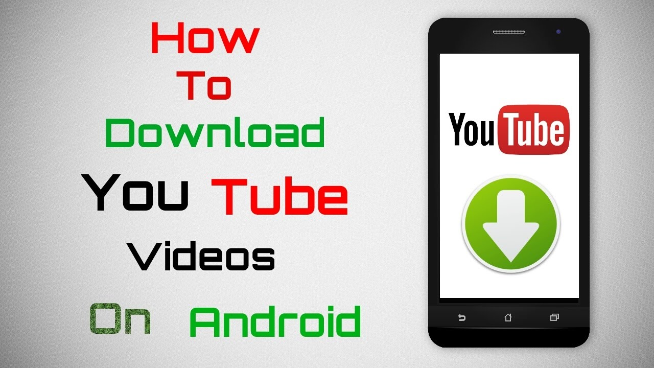 How To download YouTube videos on my mobile phone?