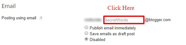 Change Login Email Address in Blogger
