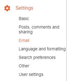 Change Login Email Address in Blogger