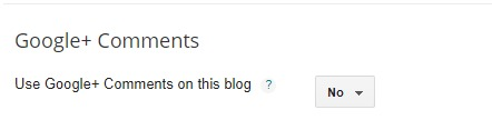 Use Google+ Comments in Blogger
