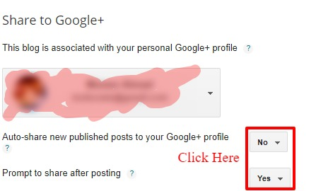 Auto Share New Published Posts to Google+ profile