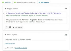 Yoast SEO on TechsTribe