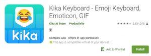Kika Keyboard emoji mod apk