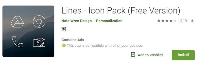 Lines Icon Packs mod apk