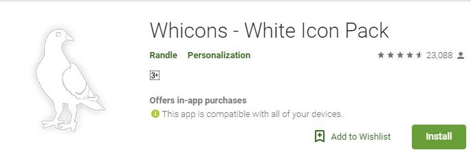 Whicons White mod apk