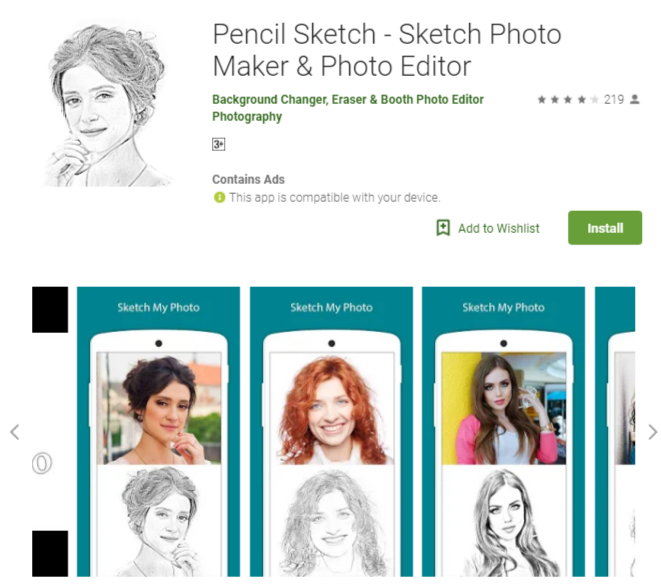 Pencil Sketch Mod Apk