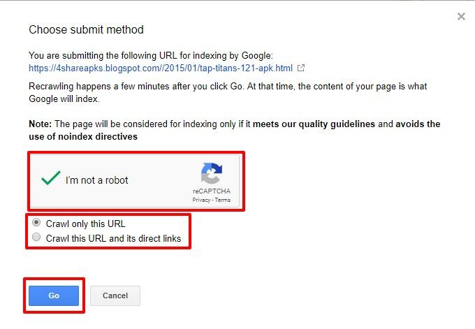 Index Blogger Post in Google
