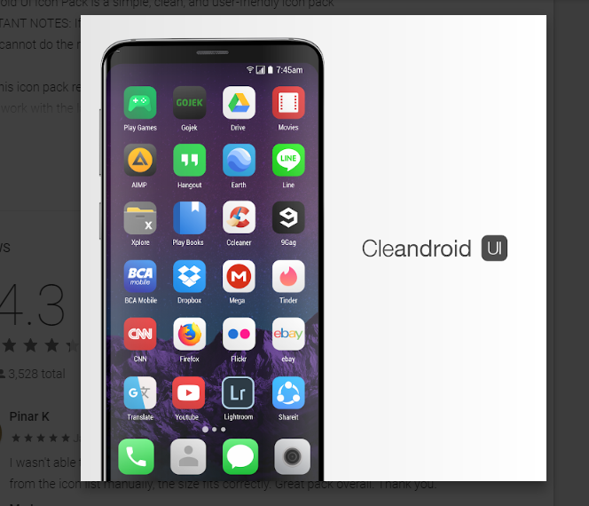 Cleandroid UI - Icon