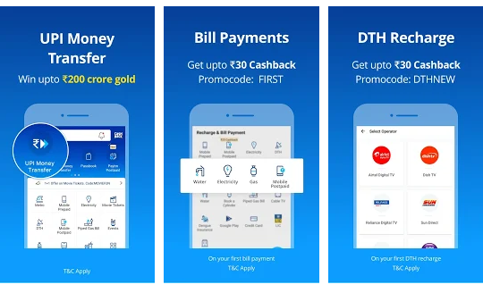 Mobile Recharge, UPI, Bill Payment, Money Transfer by paytm