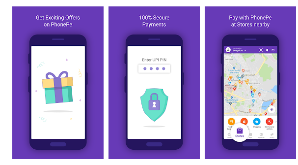 Screenshots of PhonePe-Best Online recharge apps and bill payment app