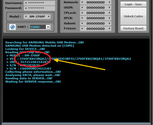 SamKey All Samsung Unlock Code Reader With Free User & Pass