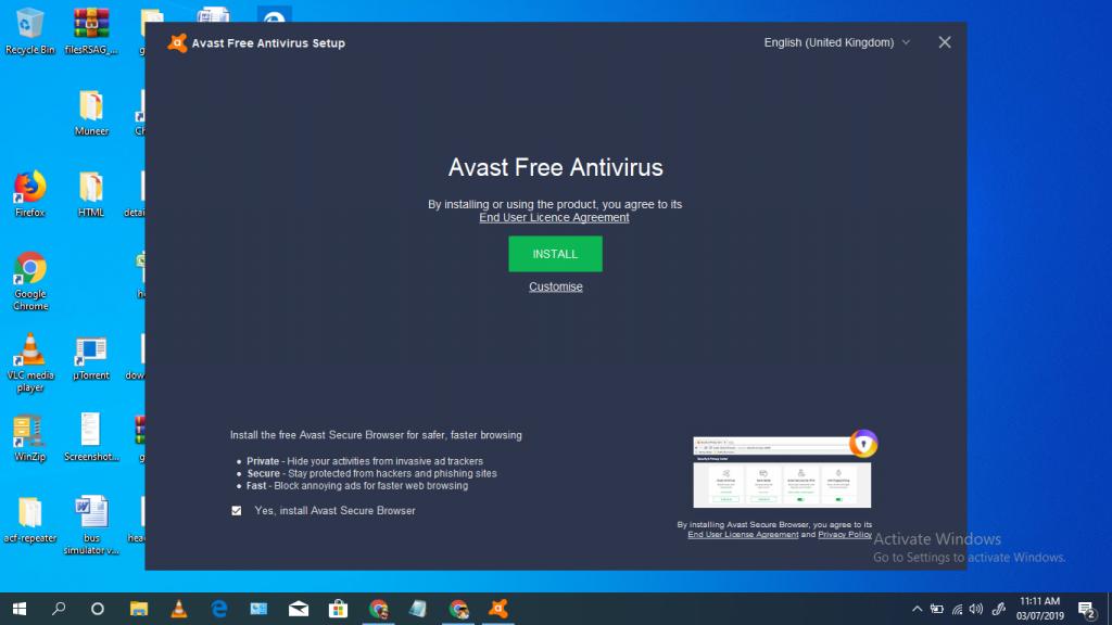 install the avast