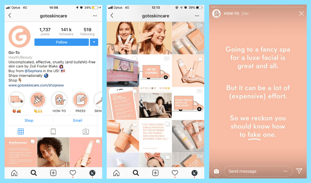 Create a Consistent Brand Story Instagram