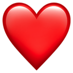 "Emoji ""red heart"""