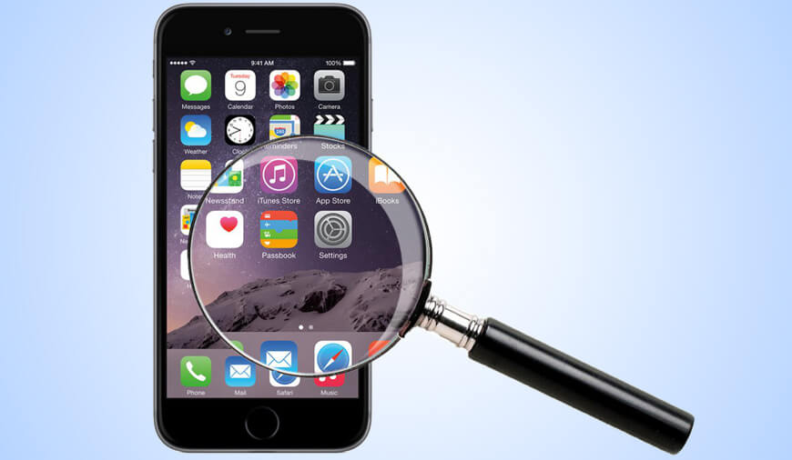 Magnifying Glass app for iPhone