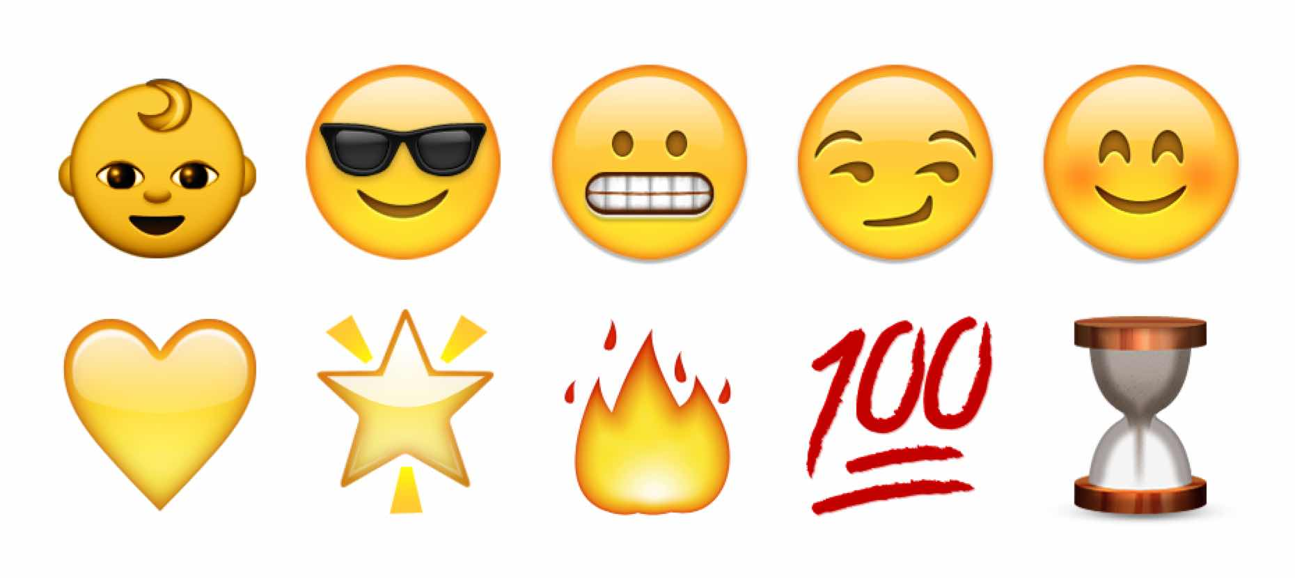 Top 10 Most Popular  Snapchat Emojis