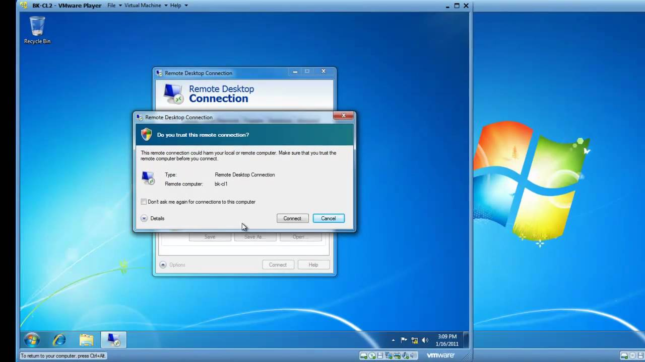 Use Remote Desktop to connect to the PC you set up: