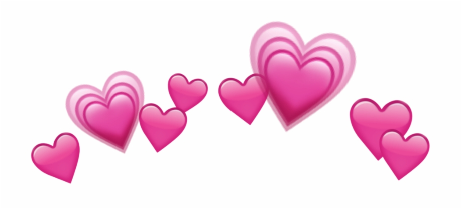 "Emoji ""pink hearts"""
