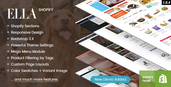 Ella – Responsive Shopify Template Nulled