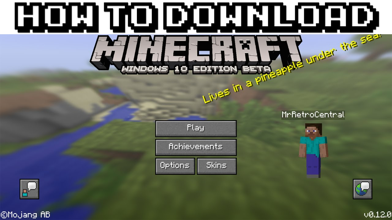 Download Minecraft For Windows 10