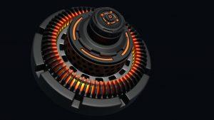 3D Sci fi Clutch