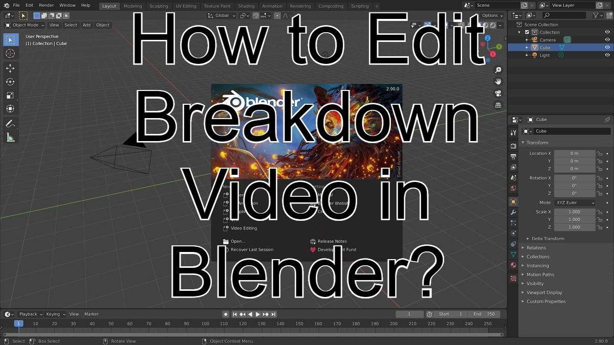 How to Edit Breakdown Video in Blender?